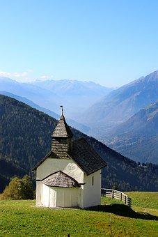 Chapel, Mountain, Mountains, Alpine, Church, Nature