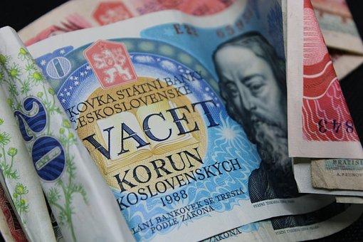 Money, Czech Republic, Crowns, Currency, Finance