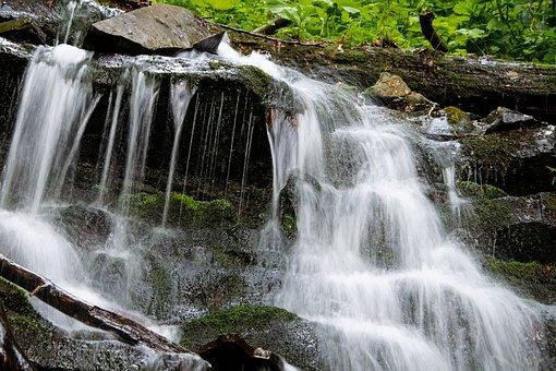 Waterfall, Beskydy, Czech Republic, Nature, River