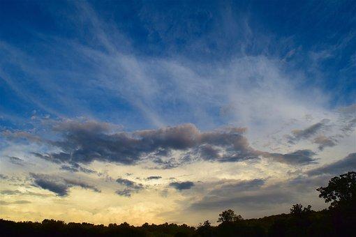 Sky, Sunset, Clouds, Dramatic, Landscape, Mood, Dusk