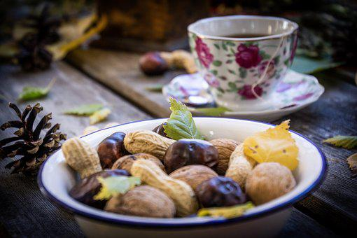 You, Cup, Drink, Walnuts, Chestnuts, Dried Fruit