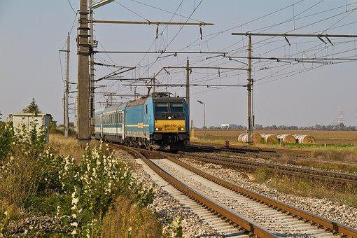 Railway, Locomotive, Electric Locomotive, Máv