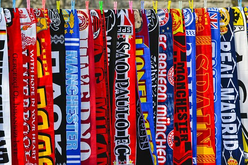 Football, Scarves, Scarf, Spectators, Enthusiastic