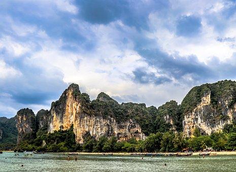 Thailand, Mountains, Nature, Landscape, Asia, Green