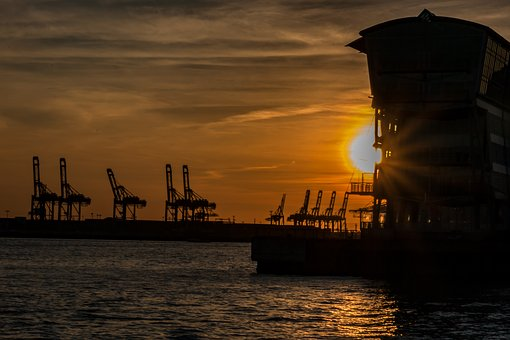 Elbe, Architecture, Hamburg, Building, River, City