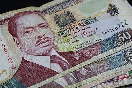 Dollar Bill, Kenya, Currency, Fifty, Macro, Close Up