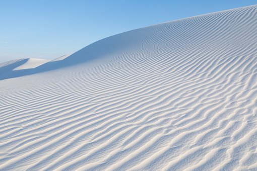 White Sands, Nm, Late Afternoon Light