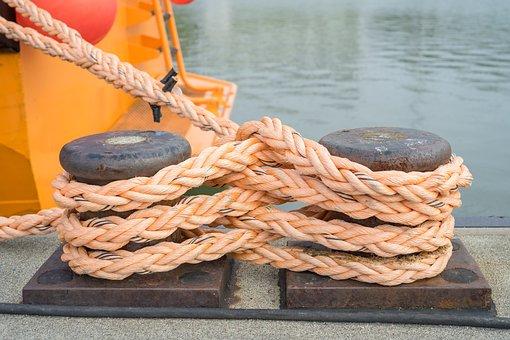 Mooring, Bollard, Pier, Port, Water, Ship, Metal