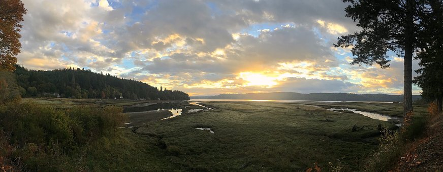 Landscape, Sunrise, Panoramic, Nature, Outdoors, Scenic