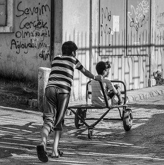 Children, Poverty, Child, People, Boys, Play