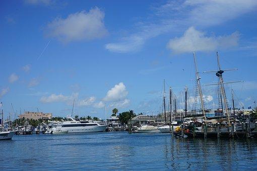 Boat, Ship, Pier, Dock, Yacht, Sailing, Summer, Ocean