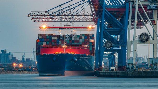 Hamburg, Elbe, Ship, Water, Port, Nature, River
