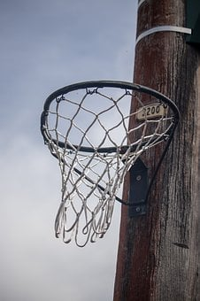 Basketball, Hoop, Street, Lamp Post, Outside