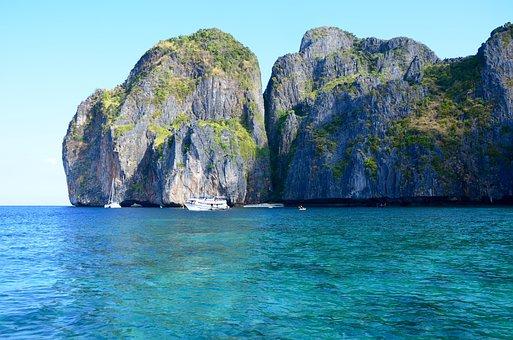 Thailand, Rocks, Sea, Turquoise, Water, Ocean, Summer