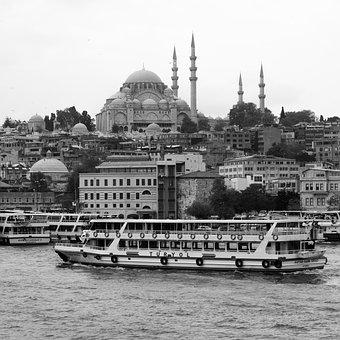 Boat, River, Bosphorus, Turkey, Tourism, Travel, Mosque