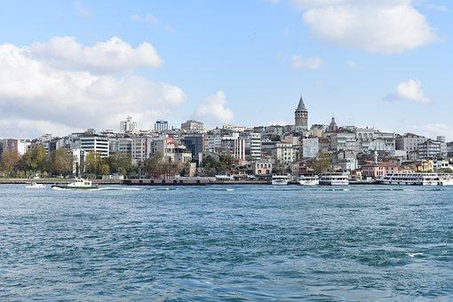 Golden Horn, Istanbul, Turkey, Asia, Europe, Sea, Ocean