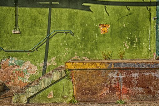 Stairs, Loading Ramp, Sill, Rust, Ailing, Hdr