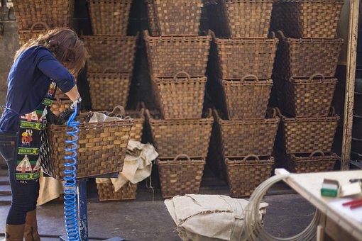 Baskets, Crafts, Manual, Basket, Wicker, Decoration