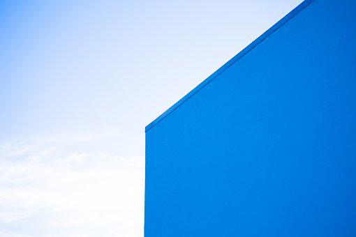 Blue Background, Optical Deception, Blue, Background