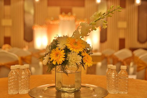 Glass, Yellow, Luxury, Wedding, Flowers, Blur, Best