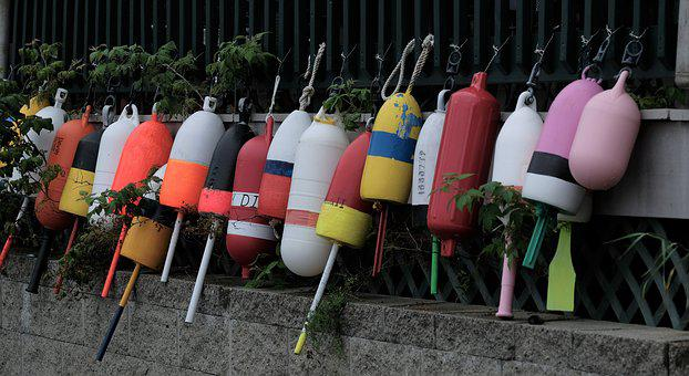 Lobster Buoys, Buoys, Colorful, Maine