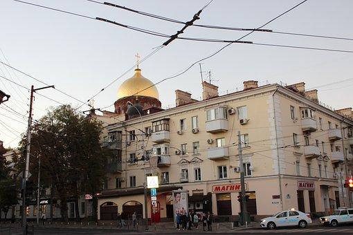 Krasnodar, Russia, Architecture, Cathedral, City, Dome