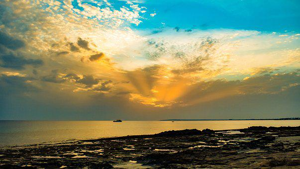 Landscape, Afternoon, Sky, Clouds, Scenery, Horizon