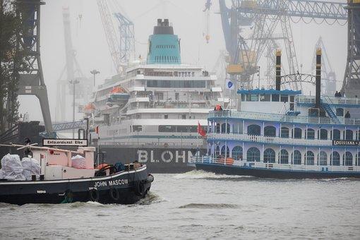 Port, Ships, Dry Dock, Cruise Ship, Paddle Steamer
