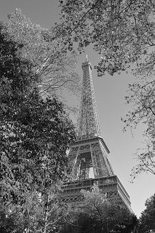 Eiffel Tower, Eiffel Tower Photo Black And White