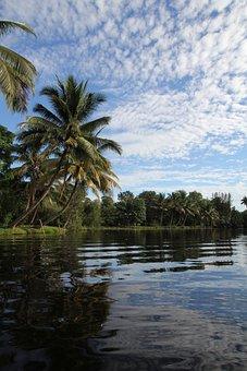 Cuba, River, Natural Lake, Blue, Summer, Exoticism