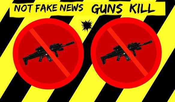 Warning, Fake News, Gun Control, Alert Sign, Ban Weapon