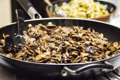 Mushrooms, Mushroom Skillet, Cook, Forest, Eat, Nature
