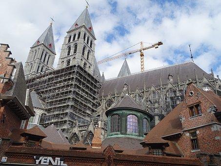 Tournai, Cathedral, Church, Religious, History