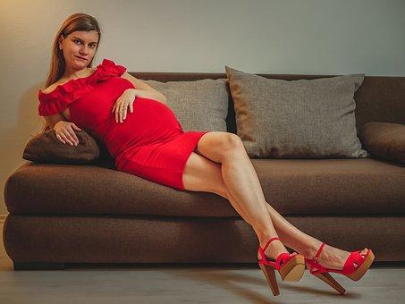 Woman, Pregnant, Pregnancy, High Heels, Shoe, Legs, Mom