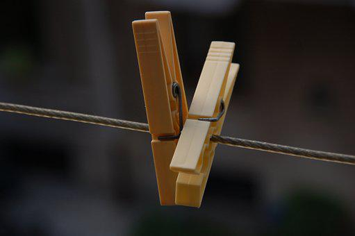 Clothespins, Laundry, Linen, Hang, Rope