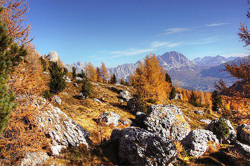 Passo Giau, Dolomites, Italy, Mountain Group, Mountains