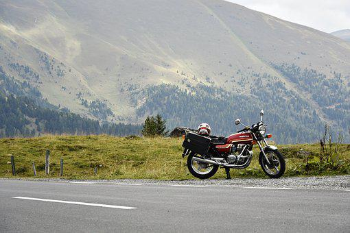 Motorbike, Motorcycle, Mountains, Austria, Travel, Road
