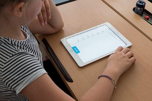 School, Tablet, Ipad, Education, Student, Girl, Learn