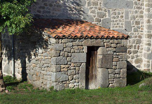 Shed, Tiles, Granite, Stones, Architecture