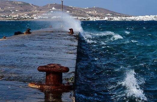 Port, Sea, Wind, Waves, Maritime, City, Side, Water