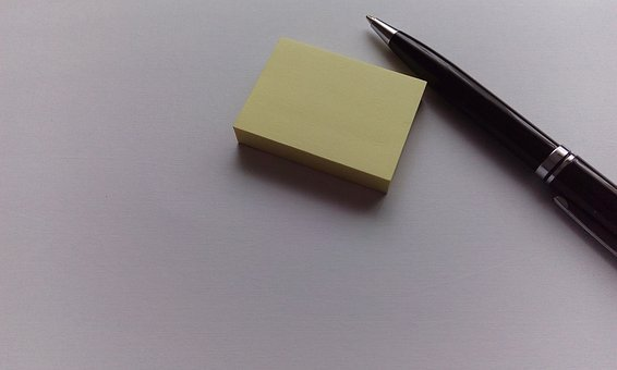 Post It, Note, Pen, Adhesive Note, Sticky Note