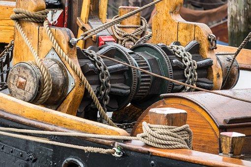 Winds, Windlass, Winch, Tool, Mechanics, Seafaring