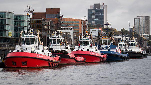 Tug, Towing Vessel, Port, Elbe, Ship, Maritime