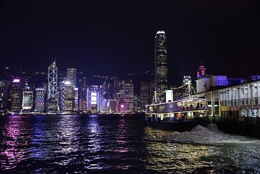 Hongkong, Victoria, Harbour, City, Cityscape, Travel