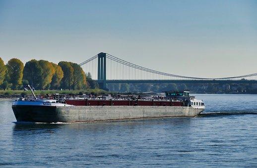 Rhine, Ship, Bridge, Water, River, Rhine Cruises