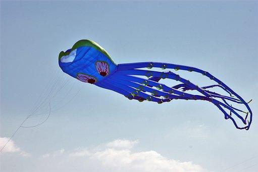 Kite, Beach, Berck-plage, Wind, Sky