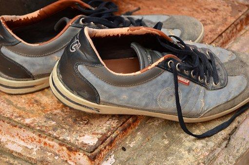 Shoes, Footwear, Old, Men's Shoes, Work Shoes