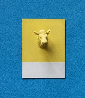 Abstract, Animal, Background, Blue, Bull, Bulls Head
