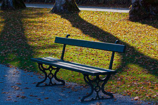 Park, Park Bench, Bank, Nature, Rest, Recovery, Autumn