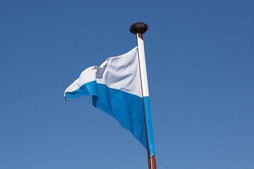 Standard, Flag, Pennant, Symbol, Bavaria, White, Blue